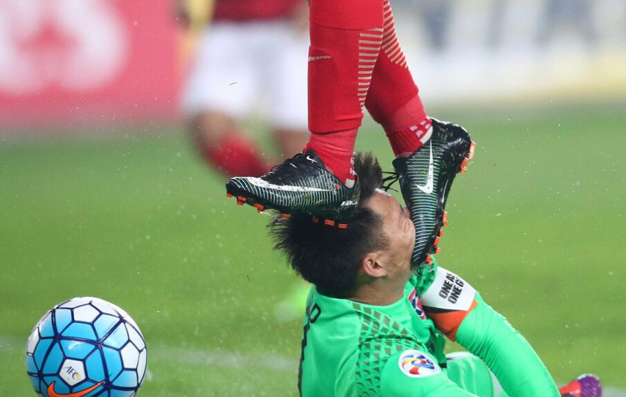 2017年亚冠赛:广州恒大7-0大胜香港东方体育(组图)