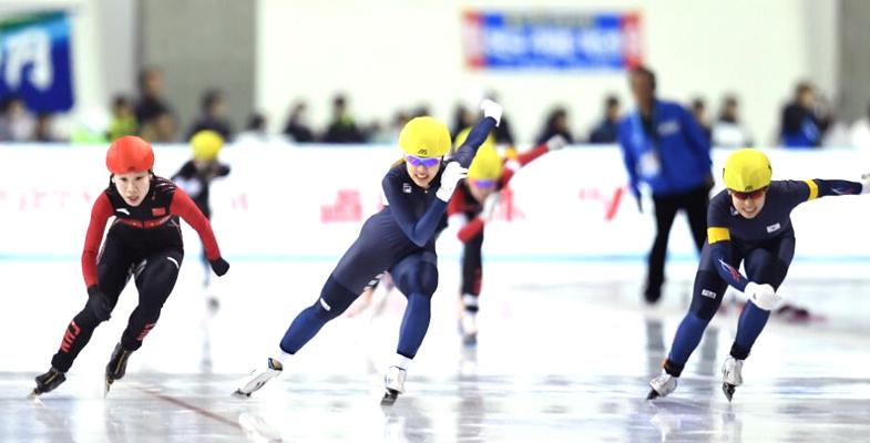 冬季运动会速度滑冰赛第四日 中国获第五户外第七