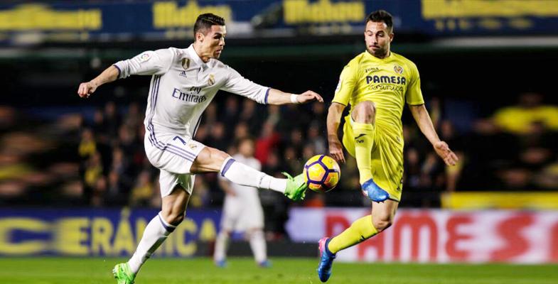 西甲:皇家马德里客场3比2险胜比利亚雷亚尔(组图)