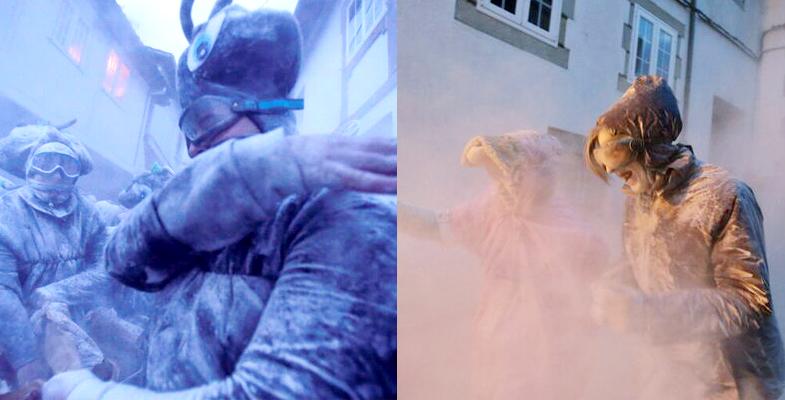 疯狂!西班牙面粉大战 选手口罩护目镜装备齐全(图)