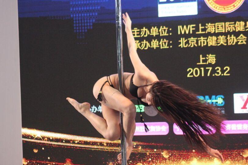中国钢管舞明星教练大赛在中国健身展火爆上演|图