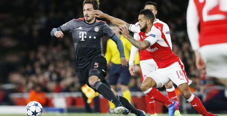 欧冠焦点战:阿森纳主场1比5不敌拜仁慕尼黑(图)