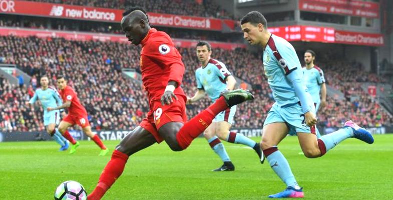 英超第28轮:利物浦主场2比1取胜伯恩利(组图)