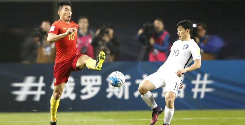 世预赛亚洲区12强赛:中国男足1-0战胜韩国队(图)