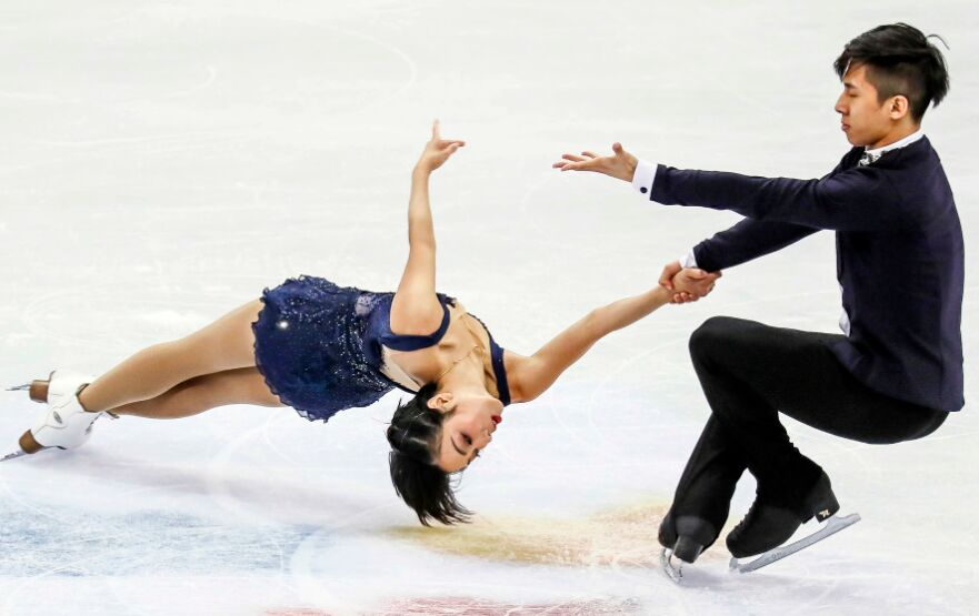 世界花样滑冰锦标赛结束了双人短节目的争夺(图)