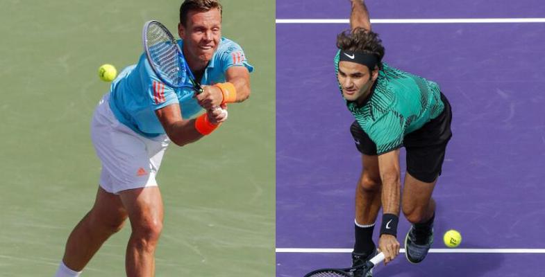 ATP迈阿密大师赛1/4决赛 费德勒晋级四强(组图)