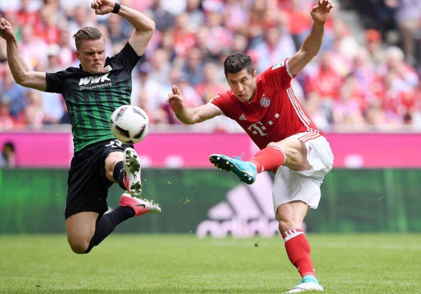 德甲第26轮场较量:拜仁主场6比0轻取奥格斯堡(图)