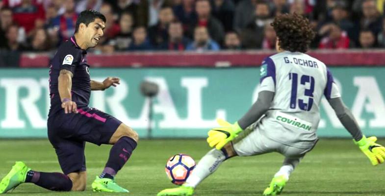 西甲第29轮:巴塞罗那客场4比1取胜格拉纳达(图)