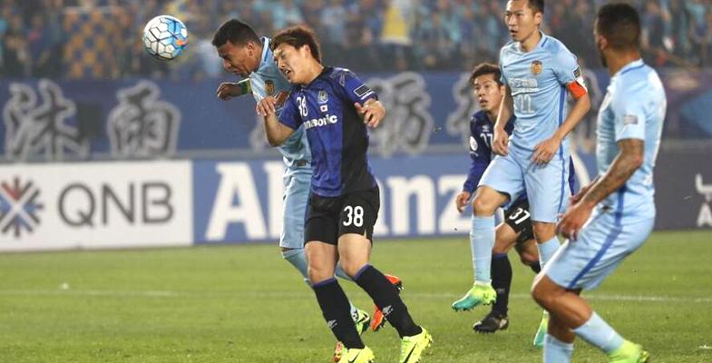 2017亚冠联赛:江苏苏宁3-0战胜大阪钢巴(组图)