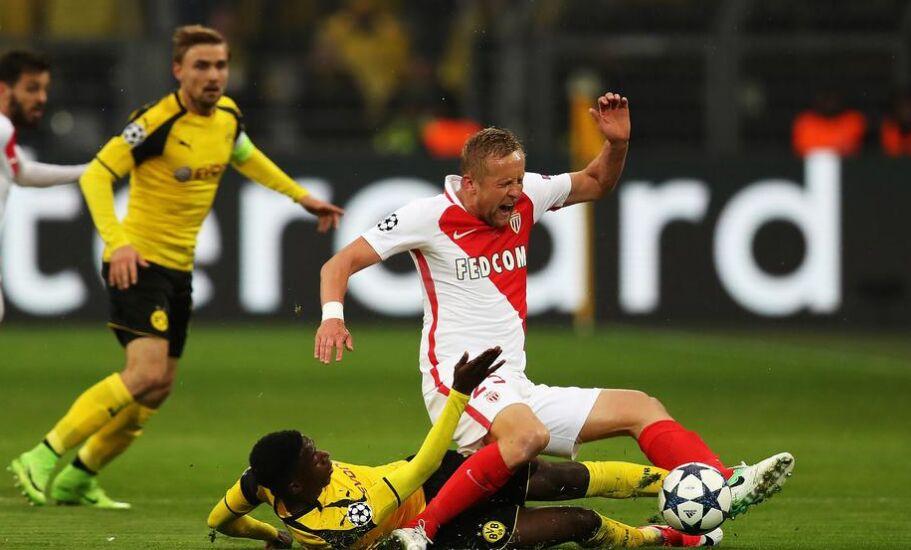 欧冠一场决赛:多特蒙德主场2比3负于摩纳哥(图)