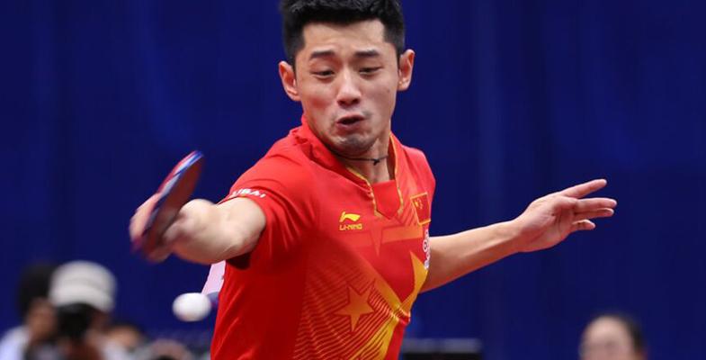 亚锦赛:中国乒乓选手张继科3-0胜大岛佑哉(组图)