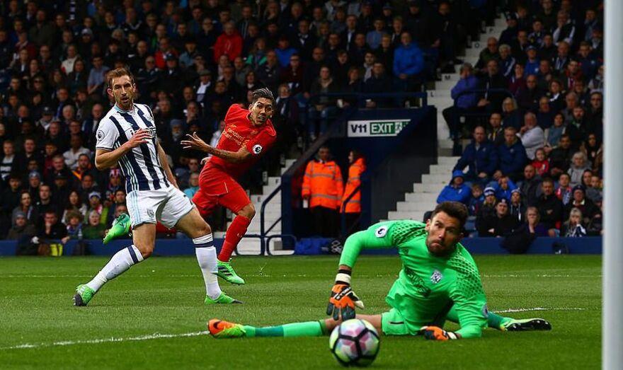 英超第33轮:利物浦队客场1比0小胜西布朗(组图)