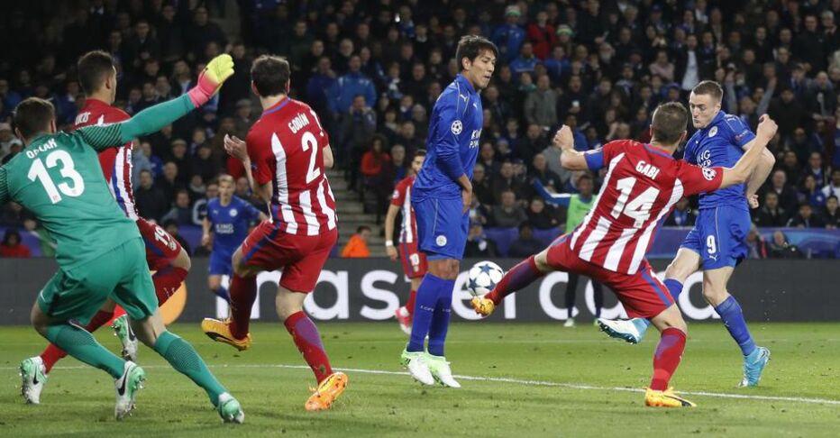 欧冠决赛:马德里竞技客场1比1战平莱斯特城(图)