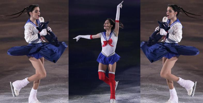 2017年世界花滑娇娃演绎冰上美少女战士(组图)