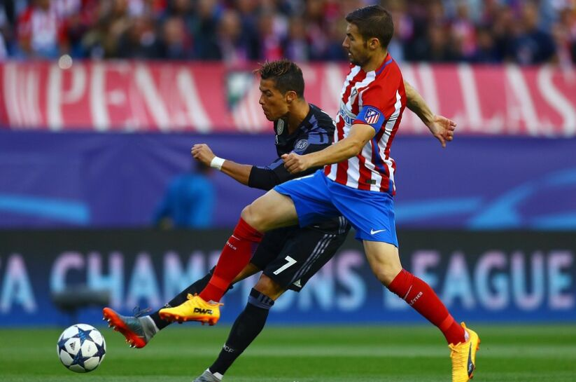 欧冠:皇家马德里客场1比2不敌马德里竞技(组图)