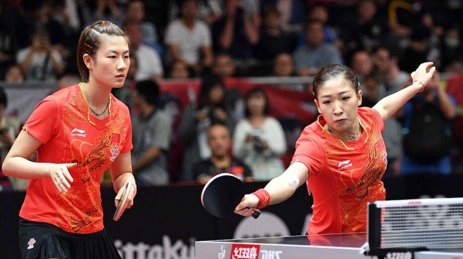 2017年世乒赛中国队球员都顺利过关(组图)