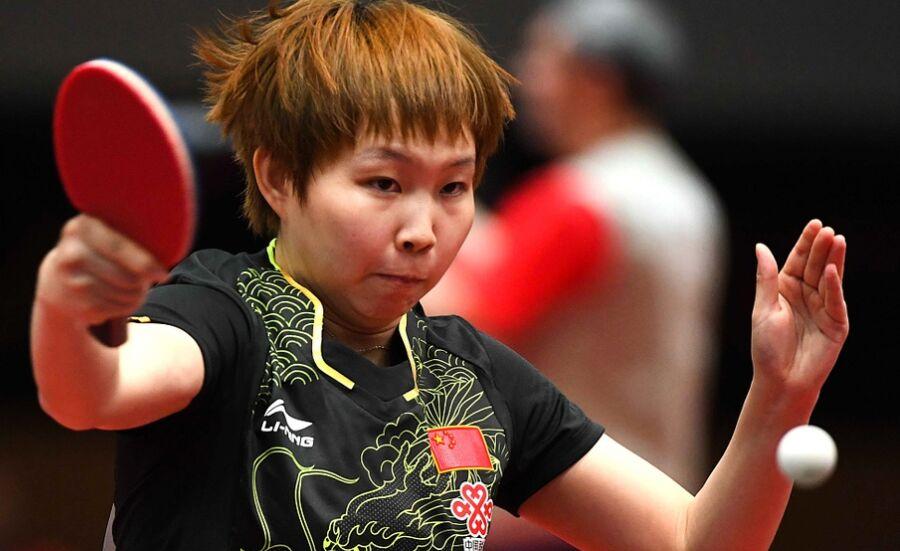 2017年世乒赛陈梦朱雨玲木子过首轮(组图)