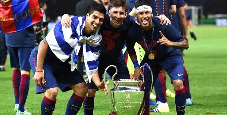巴塞罗那两年前今天3比1击败尤文图斯