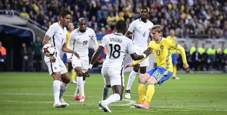 世界杯预选赛:法国客场被逆转1比2负于瑞典