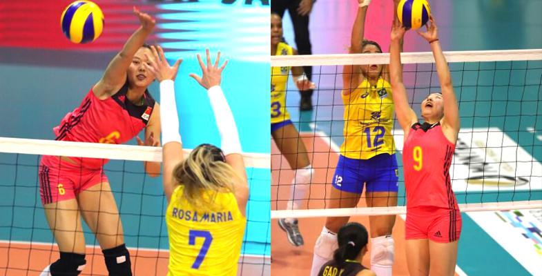 瑞士女排精英赛半决赛:中国女排1-3不敌巴西