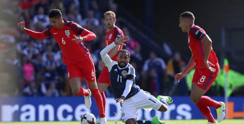 世界杯欧洲区预选赛:英格兰客场2比2险平苏格兰
