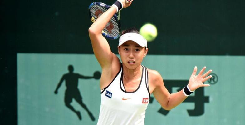 天津全运会:张帅在网球团体赛中以2比0取得胜利