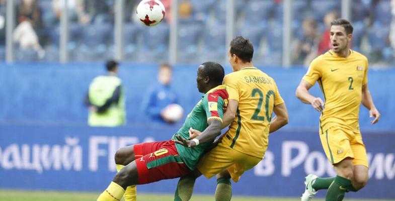 联合会杯:喀麦隆队迎战澳大利亚队(组图)