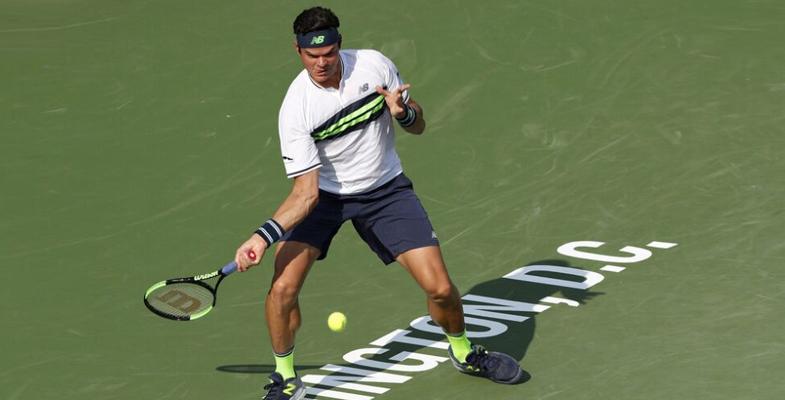 ATP花旗公开赛:拉奥尼奇2-0马胡成功晋级(组图)