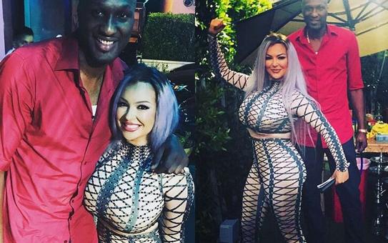 NBA球星奥多姆新女友身材喷血 前凸后翘不输卡戴珊