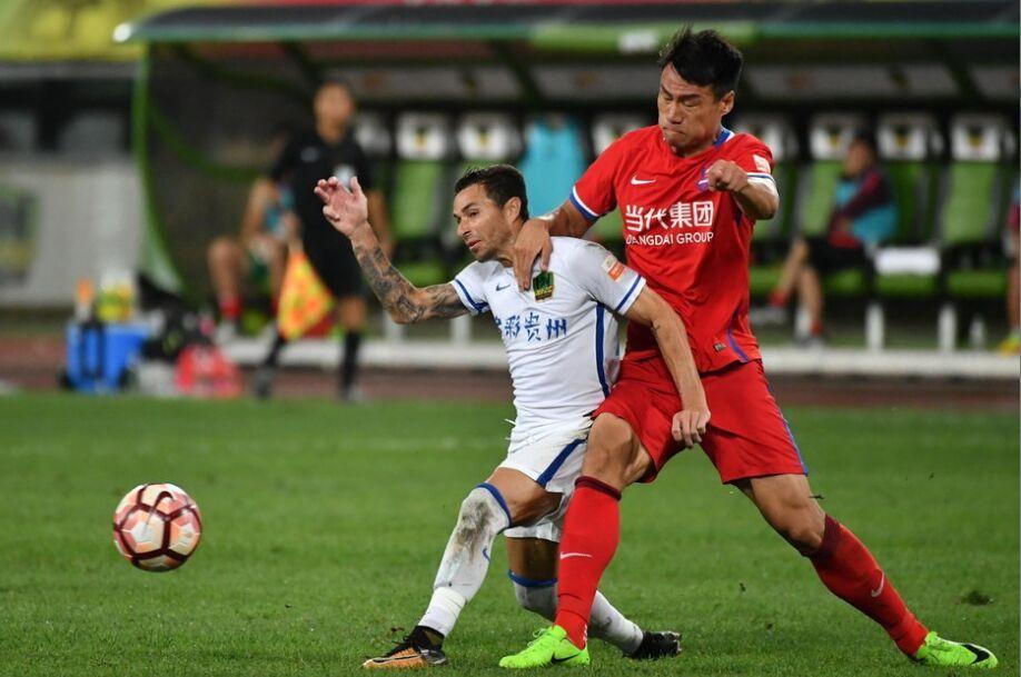 中超第20轮:贵州恒丰智诚1-0战胜重庆当代力帆