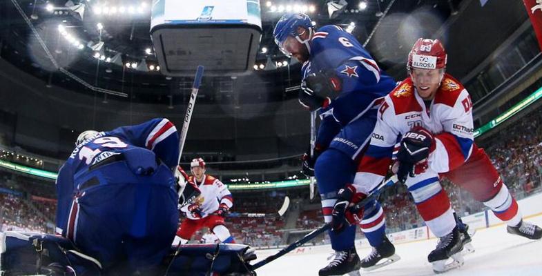 俄罗斯索契冰球公开赛决赛俄罗斯国奥队4-3圣彼得堡SKA
