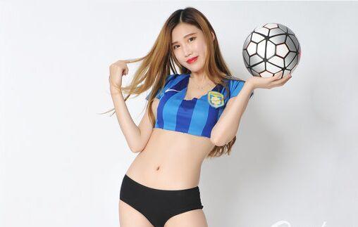 足球宝贝烈焰红唇 助苏宁客胜富力逃脱降级区