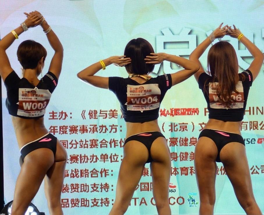中国美臀大赛选手?#28909;?#38182;集秀丰臀