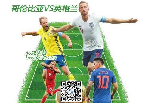 世界杯八强争夺战哥伦比亚英格兰前瞻预测分析?。ㄍ迹?-