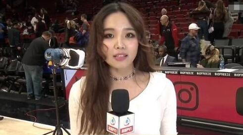 """侧颜杀!NBA记者""""烤肉姐""""简直太美,不愧是利拉德的干妹妹 -"""