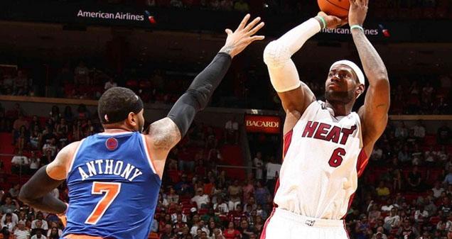 NBA视频集锦:热火102-91尼克斯 詹姆斯38分再创奇迹