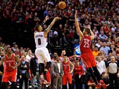 NBA季后赛:火箭vs开拓者十佳球 利拉德绝命三分领衔