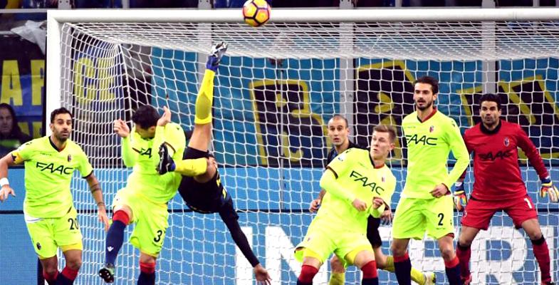 国际米兰主场加时3比2淘汰博洛尼亚