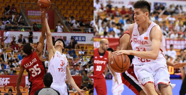 中国男篮红队90-64胜埃及队获第三名