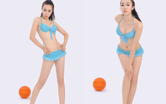 靓丽模特苏巍翘臀拍篮球写真 大秀S身材(组图)
