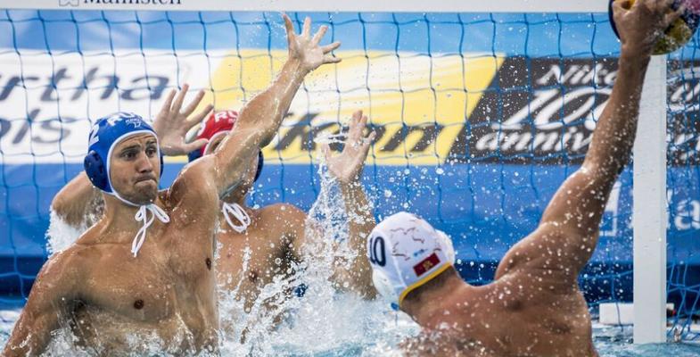 游泳世锦赛男子水球排位赛:黑山VS俄罗斯